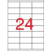 APLI Etikett, lézernyomtatókhoz, 70x35 mm, APLI, 6000 etikett/csomag