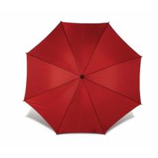 . Automata esernyő, hajlított fa nyéllel, piros
