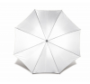 . Automata esernyő, hajlított fa nyéllel, fehér esernyő