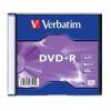 Verbatim DVD+R lemez, AZO, 4,7GB, 16x, vékony tok, VERBATIM
