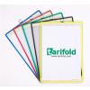 TARIFOLD Bemutatótábla, függő, A4, álló, fém fülecskével, TARIFOLD, kék