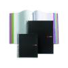 """MIQUELRIUS Spirálfüzet, A5, kockás, 200 lap, MIQUELRIS """"Note book 8"""", fekete"""