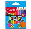 MAPED Color`Peps Mini színes ceruza készlet, háromszögletű, 12 különböző szín ceruza