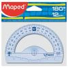 MAPED Szögmérő, műanyag, 180°, MAPED
