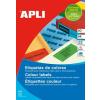 APLI Etikett, 105x37 mm, színes, APLI, sárga, 480 etikett/csomag