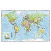 Stiefel Falitérkép, 100x140 cm, fakeret, tűzhető, Föld országai, STIEFEL