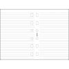 FILOFAX Kalendárium betét, jegyzetlap, personal méret, vonalas, FILOFAX, fehér