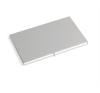 . Névjegykártya tartó, feliratozható, alumínium, ezüst névjegytartó