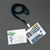 Névjegytartó, hidegen laminálható, nyakba akasztható, 112x96 mm, 3L