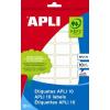 APLI Etikett, 34x67 mm, kézzel írható, APLI, 60 etikett/csomag