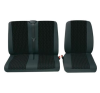 Petex Profi 1, üléshuzat készlet, piros, antracit, egyes-/kettes ülés ülésbetét, üléshuzat
