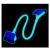 Sharkoon Floppy 45cm UV-Aktív Kék
