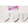 . Girland, papír, szív alakú, csontfehér