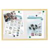 ESSELTE Törölhető tábla -500983- 60x80cm mágneses fa keretes ESSELTE