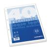 Blasetti Gyűrűskönyv betét -Ricambi -1197- A/5 40 lap KOCKÁS FEHÉR BLASET