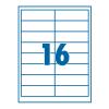 SilverBall Etikett 99,1x33,9mm 16címke/lap SilverBall <100lap/dob>