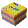 No-name Kockatömb+doboz/mikrohull/ 9x9x6cm színes papírral töltve