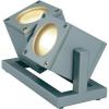 Conrad Kültéri fényszóró, nagyfeszültségű halogén, szürke, GU10, SLV Cubix II 132842