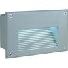 Conrad Kültéri beépíthető LED-es lámpa, ezüst-szürke, LED fixen beépítve, SLV Brick LED 18 229701