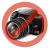 "Port PORT Tablet portfolió 9,7"" (201198) Bergame III Black/red (iPad ll & New iPad)"