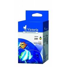 VICTORIA 23D Tintapatron DeskJet 710c, 720c, 815c nyomtatókhoz, VICTORIA színes, 39ml nyomtatópatron & toner