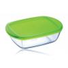 Pyrex 20121 Üveg tál+műanyag tető 1,1 l