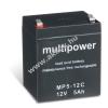 Multipower Ólom akku 12V 5Ah (Multipower) típus MP5-12C ciklusálló