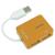 Conrad 4 portos USB 2.0 Hub, narancs, LogiLink UA0137