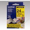 Brother Feliratozógép szalag, 24 mm x 8 m, BROTHER, sárga-fekete (QPTTZ651)