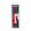 STABILO Alkoholos marker készlet, 1 mm,  OHPen M, 4 szín (TST843V4)