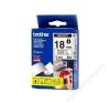 Brother Feliratozógép szalag, biztonsági, 18 mm x 8 m, BROTHER, fehér-fekete (QPTTZSE4) fénymásolópapír