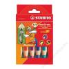STABILO Woody színes ceruza készlet, kerek, vastag, 6 különböző szín