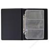 PANTA PLAST Névjegytartó, 120 db-os, gyűrűs, PANTAPLAST, fekete (INP330412F)
