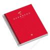 Unipapel Spirálfüzet, A4, kockás, 160 lap, regiszteres, UNIPAPEL UniExtra 04, piros (U84607)