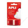 APLI Jelölőcímke, műanyag, 50 lap, 25x45 mm, APLI, piros (LCA12613)