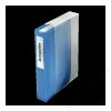 ESSELTE CD/DVD-mappa, műanyag, tokkal, 48 db-os, ESSELTE, áttetsző kék