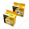 FELLOWES CD/DVD boríték, papír, ablakos, FELLOWES, fehér (IFW90690)