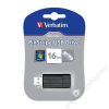 Verbatim Pendrive, 16GB, USB 2.0, 10/4MB/sec, VERBATIM PinStripe, fekete (UV16GPF)