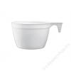 Műanyag kávéspohár, füles, 165 ml, 25 db (KHMU108)