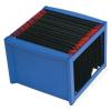 HELIT Függőmappa tároló, műanyag, HELIT, kék (INH6110034)