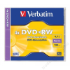 Verbatim DVD+RW lemez, újraírható, 4,7GB, 4x, normál tok, VERBATIM (DVDVU+4)