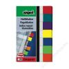 SIGEL Jelölőcímke, műanyag, 7x40 lap, 20x50 mm, SIGEL Transparent, vegyes szín (SIHN677)