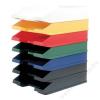 HELIT Irattálca, műanyag, HELIT Economy, piros (INH2361625)