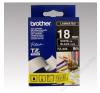 Brother Feliratozógép szalag, 18 mm x 8 m, BROTHER, fekete-fehér (QPTTZ345) fénymásolópapír