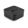 Ewent USB 2.0 Card Reader with 3 port hub table mo
