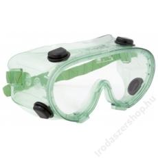 Védőszemüveg,  páramentes, gumipántos, vegyszerálló,  Chimilux (ME812)