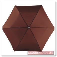Szuper lapos mini esernyő, barna