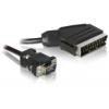 DELOCK SCART kimenet – VGA bemenet video kábel (2 m)