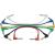 Conrad Jack patch kábel készlet 0,3 m, 6,3 jack dugó/dugó (könyök), több színű, Paccs