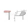 Malibu 29 íves íróasztal lezáró elem